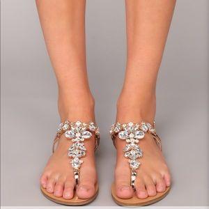 Rose Gold Rhine Stone sandals